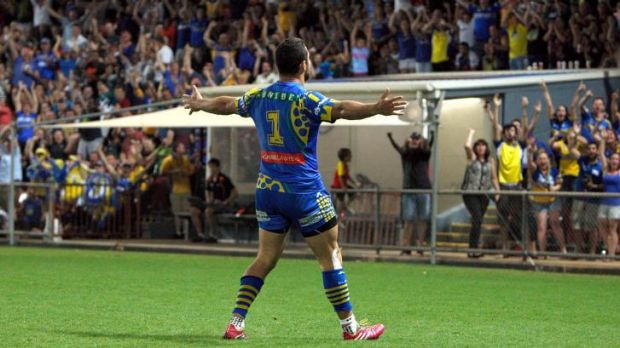 Prolific: Eels fullback Jarryd Hayne has scored 15 tries this season.