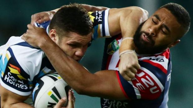 Michael Jennings battled injury in the Roosters' gritty win over the Titans.