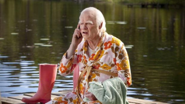 Refusing to grow old: Robert Gustafsson stars as a 100-year-old man who absconds from a rest-home on his birthday.