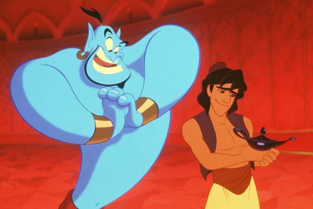 Robin Williams provided the voice of the genie in <i>Aladdin</i>.