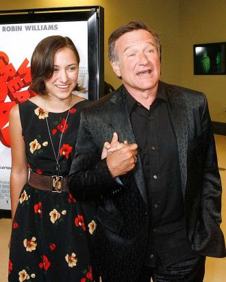 Robin Williams with his daughter, Zelda, at a film premiere in 2009.