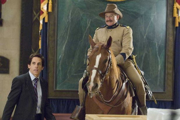 Robin Williams with Ben Stiller in <i>Night at the Museum 2 </i>.