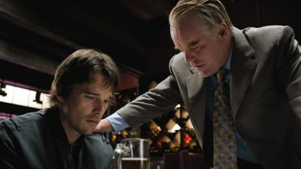 Tense moments: Ethan Hawke with the late Philip Seymour Hoffmann in <i>Before the Devil Knows You're Dead</i>.