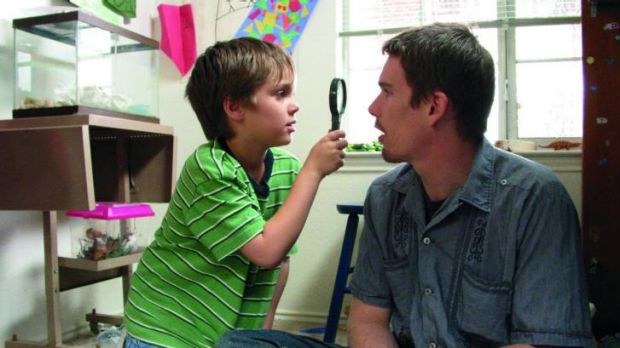 Growing up: A scene from the film <i>Boyhood</i>.