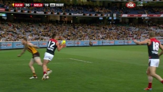 Jarryd Roughead was suspended for this incident.