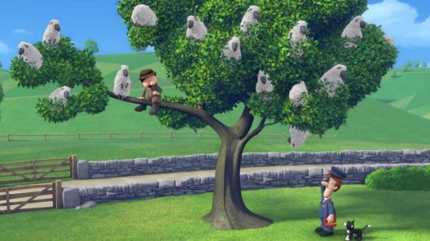 "Unexpected directions: A scene from ""Postman Pat: the Movie""."