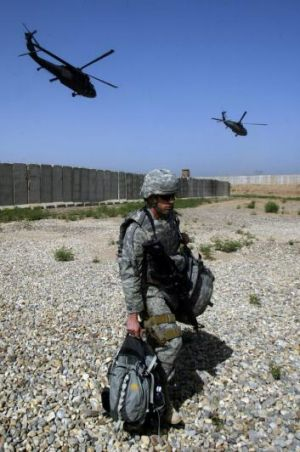 A US soldier in Iraq in 2008.