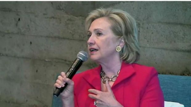 Former US Secretary of State Hillary Clinton has made comments interpreted as critical of Obama's foreign policy.