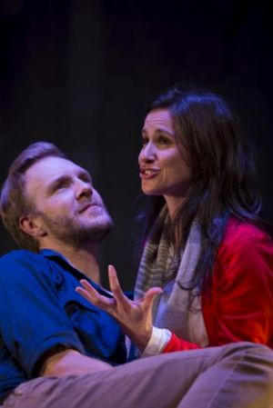 Masterful performances: Sam O'Sullivan and Emma Palmer in Constellations.