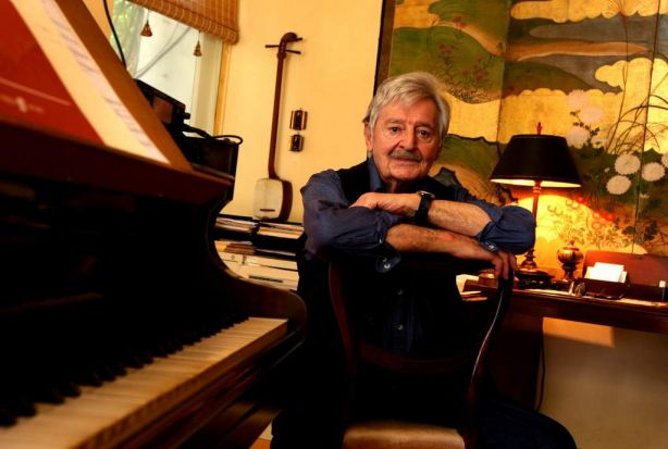 Composer Peter Sculthorpe at his Woollahra home on December 17, 2009.