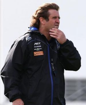 Des Hasler at Bulldogs training on Tuesday.