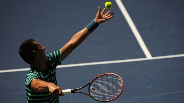 New York bound: Australia's Bernard Tomic will feature in the US Open at Flushing Meadows.