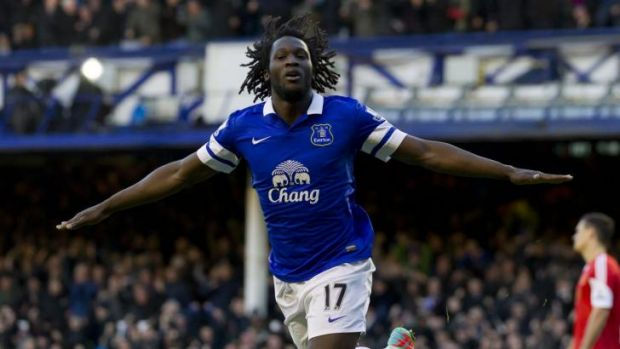Everton paid a club record to sign Lukaku from Chelsea.