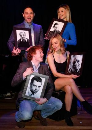 Picture this: The cast of <em>Sondheim on Sondheim</em> (clockwise from back) Blake Erickson, Debora Krizak, Christy ...