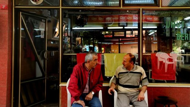 Old haunt: the barber shop to which Turkey's president-elect occasionally returns for his haircut.