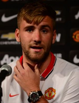 Early setback: England left back and Manchester United recruit Luke Shaw.