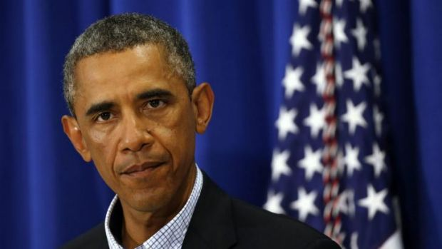 US President Barack Obama speaks about the shooting in Ferguson, Missouri.