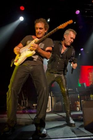 Cold Chisel's Ian Moss and Jimmy Barnes.