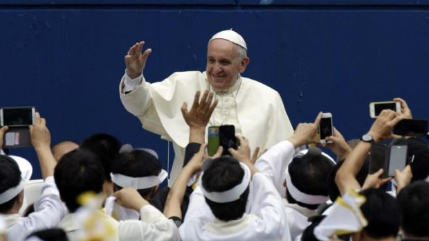 Pope Francis in Daejeon, south of Seoul.