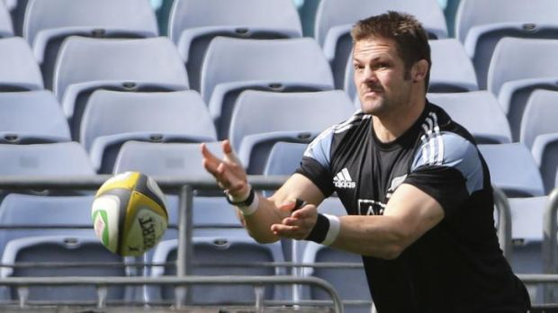 Richie rich: Richie McCaw at training on Friday.
