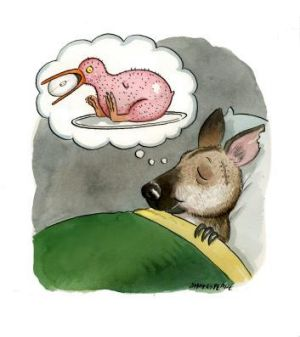 Dreaming of roasted Kiwi. <em>Illustration: John Shakespeare</em>