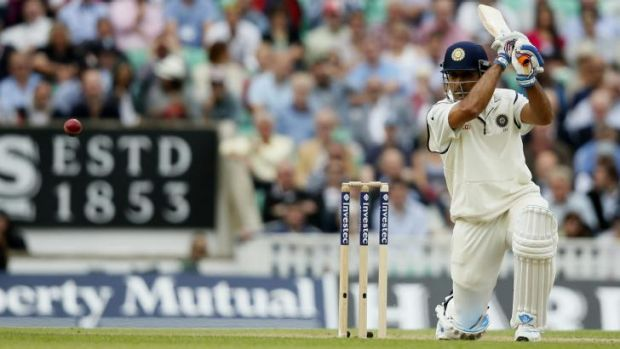 Resolute: MS Dhoni provided some fight for India against England.