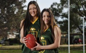Raven Leatherby-Ford of Wanniassa, left, and Jess Stramandinoli.