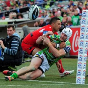 Benji Marshall was one of the Dragons' best in their win over the Raiders on Saturday.