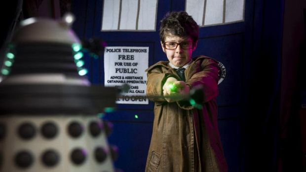 Xander Phillips, 9, is a huge Doctor Who fan.