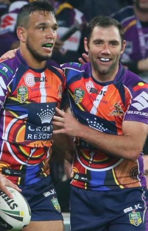 Will Chambers and Cameron Smith on Saturday night.
