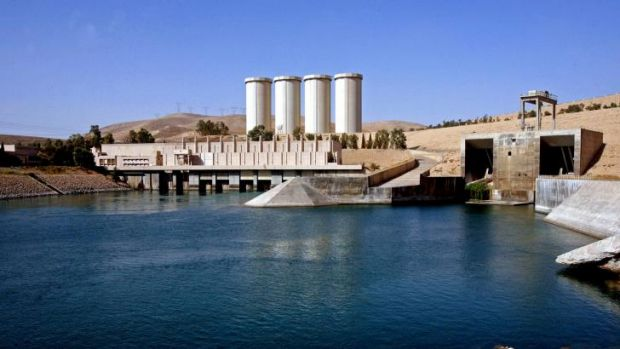 The dam in Mosul, 360 kilometres northwest of Baghdad, Iraq.