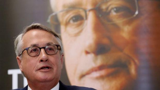 Former treasurer Wayne Swan launches his book <i>The Good Fight</i> before his address to the National Press Club.