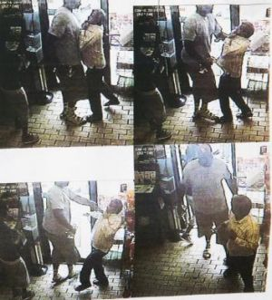 Images from the CCTV footage released by the Ferguson Police Department.