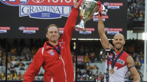 Former Erindale College student Jarrad McVeigh won an AFL premiership with the Sydney Swans in 2012.
