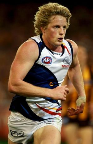 Rory Sloane kicked a goal which was reviewed and then adjudged a behind.