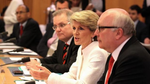 Cultural diplomacy: Julie Bishop and George Brandis were both in attendance at the launch of the Australia Council ...