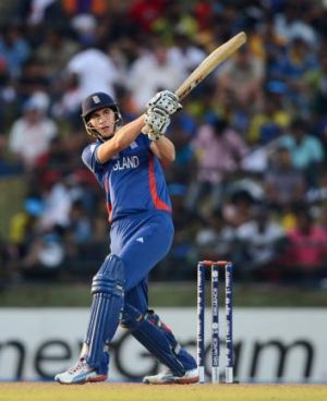 Alex Hales hits out for England during the  2012 ICC World Twenty20 tournament.