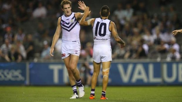 Michael Barlow will miss the next two games for Fremantle with a broken thumb.