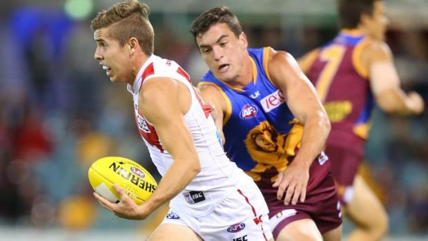Established: Jake Lloyd has become a lucky charm for the Swans.