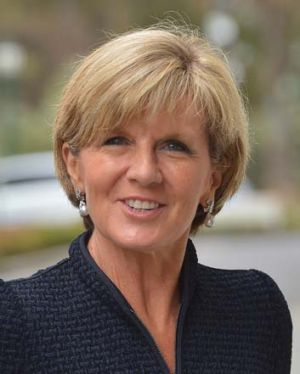Condemnation: Julie Bishop has warned Clive Palmer.