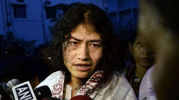 'It is hard for me to believe that I am free now': Indian human rights activist Irom Sharmila speaks to the media ...