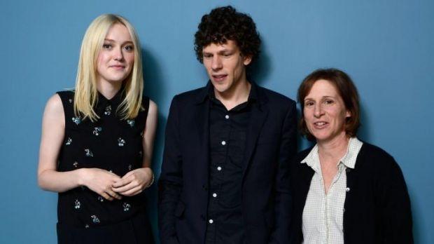 It's a blast: Dakota Fanning,  Jesse Eisenberg and director Kelly Reichardt.