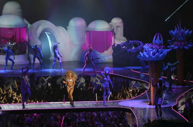 Lady Gaga kicked off her 2014 Australian tour in Perth.
