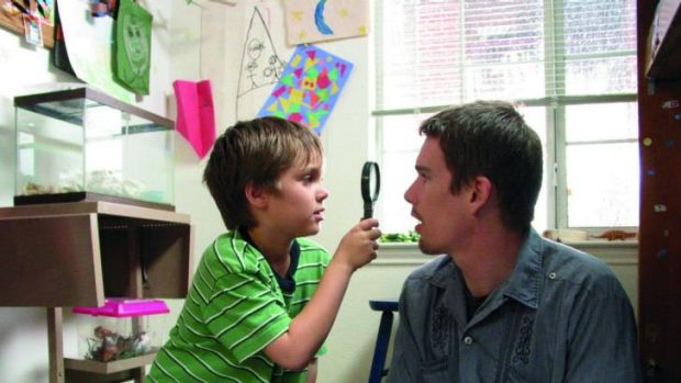 Years in the making: Ethan Hawke and Ella Coltrane in<i> Boyhood</i>, which was filmed over 12 years.