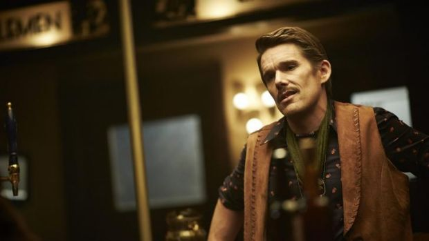 Knotty science fiction: Ethan Hawke in <i>Predestination</i>, written and directed by Australian filmmakers the Spierig ...