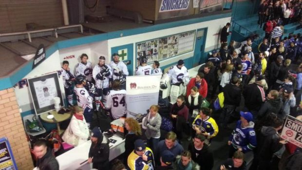 Players and fans are never that far separated in the AIHL.