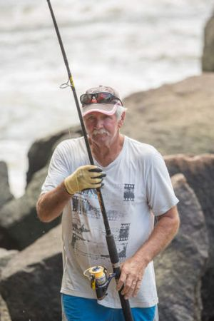 Fisherman Bob Woodland.