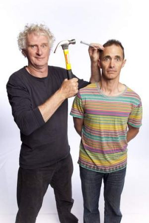 Nailing it: Illustrator Terry Denton (left) and Andy Griffiths have formed a highly successful partnership.