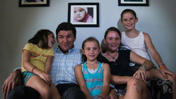 """Sean Murray with daughters (from left) Kieran """"Coco"""", 5, Quinn, 7, Meghan, 16, and Maeve, 11."""