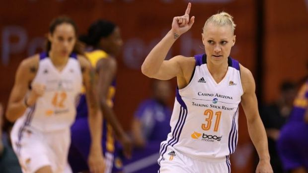 Focused: Erin Phillips of the Phoenix Mercury, has the WNBA Championship in her sights.